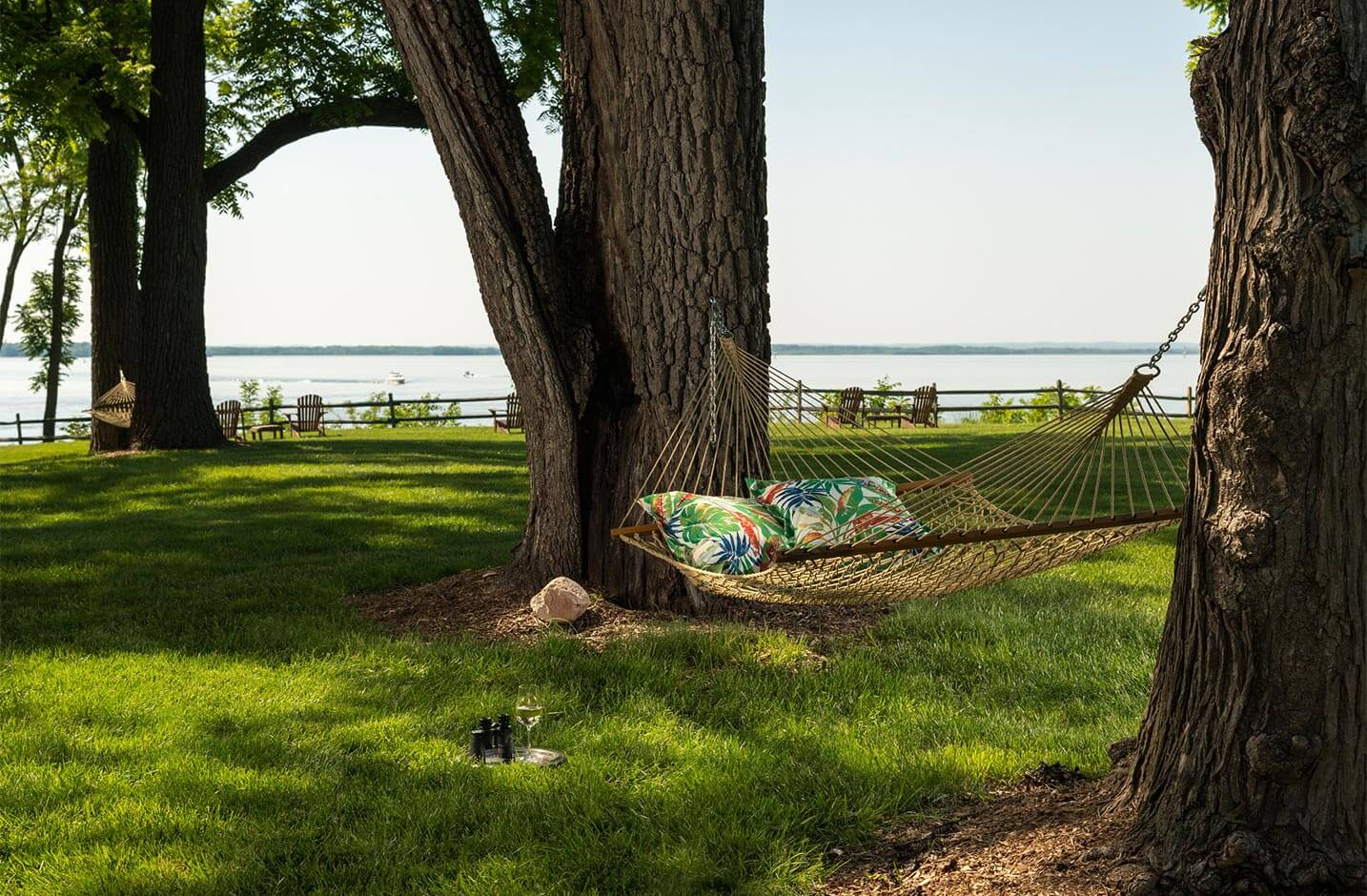 Hammock with a water view at our Chesapeake Bay B&B