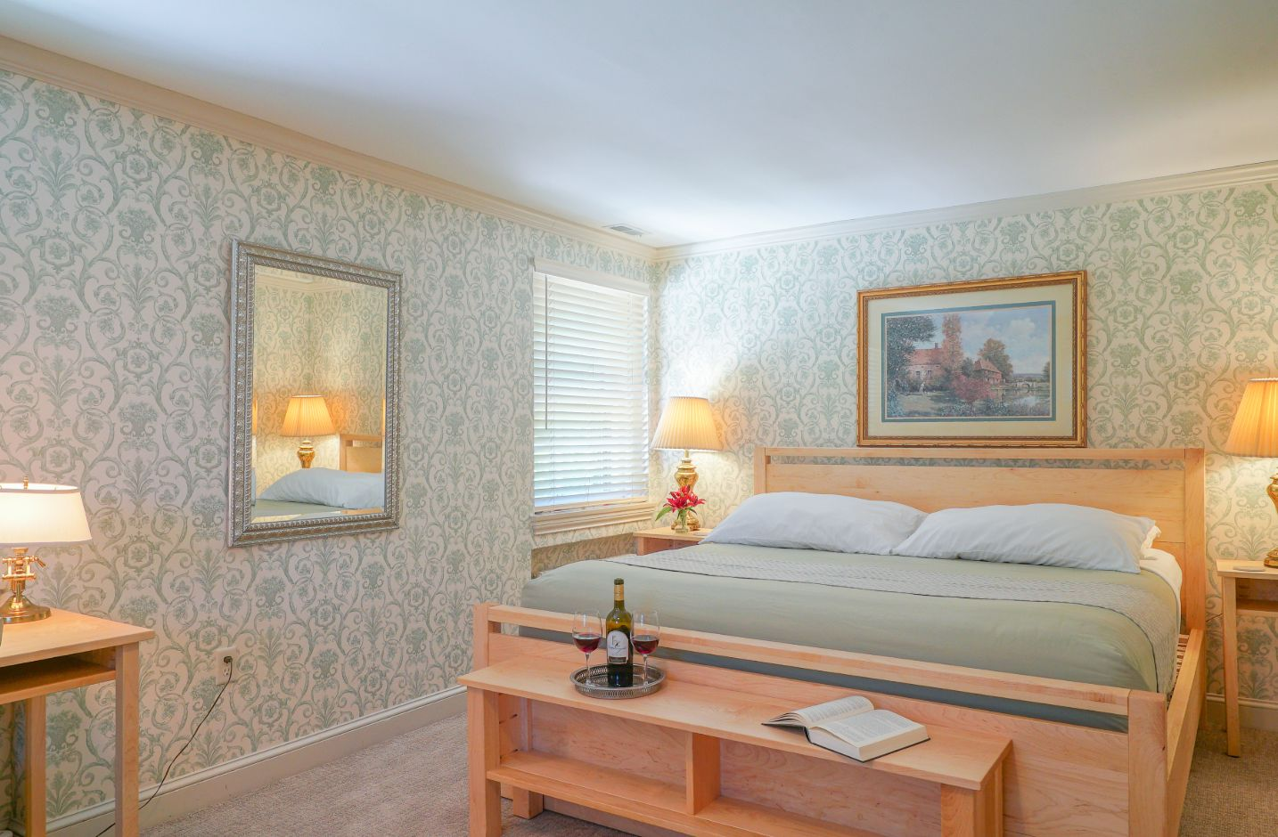 Roese Room bed at our Chesapeake Bay bed and breakfast