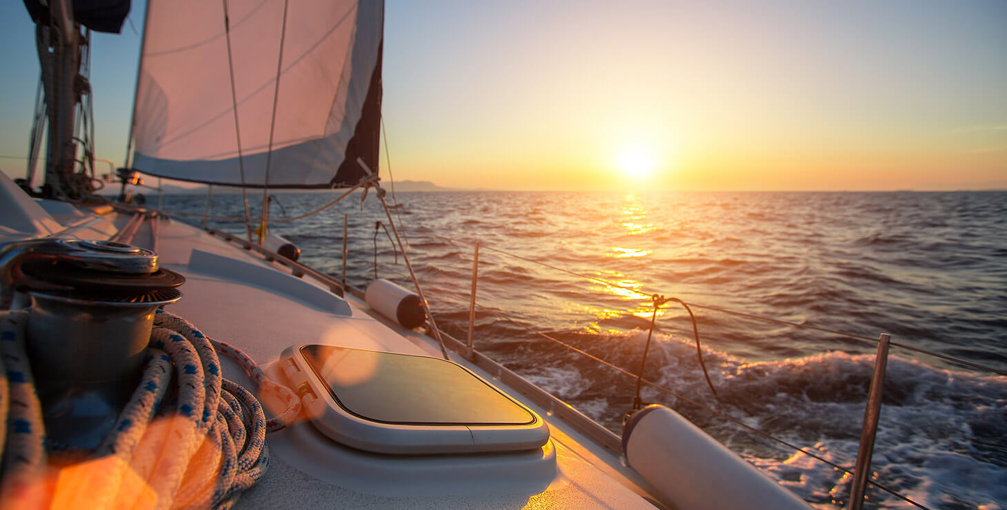 Sailing at sunset is a great Chesapeake Bay activity