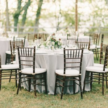 Tables and chairs at our event venue in Maryland