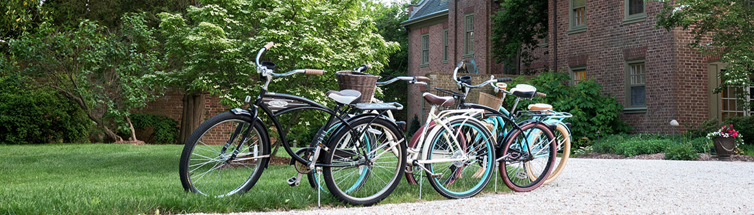 Crusier Bicycles in our front lawn
