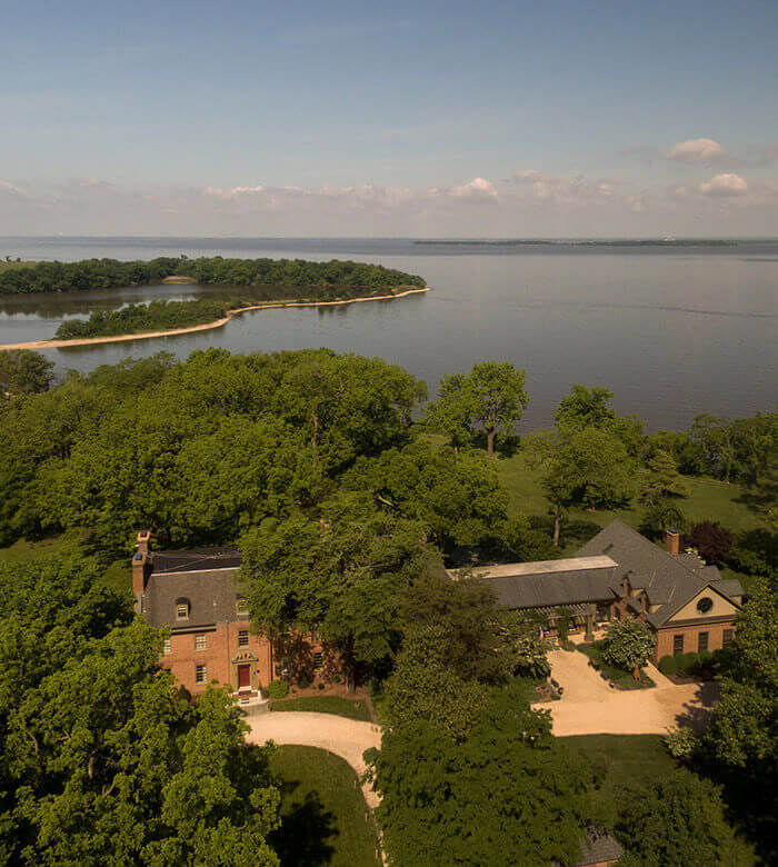 View of Great Oak Manor from above