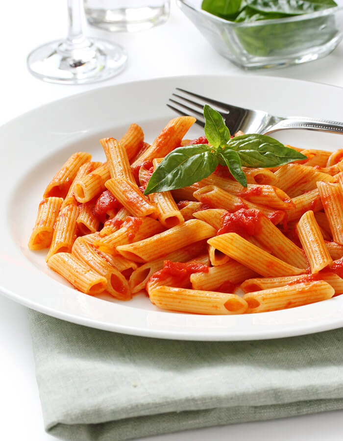 Pasta on a plate at a restaurant in Chestertown
