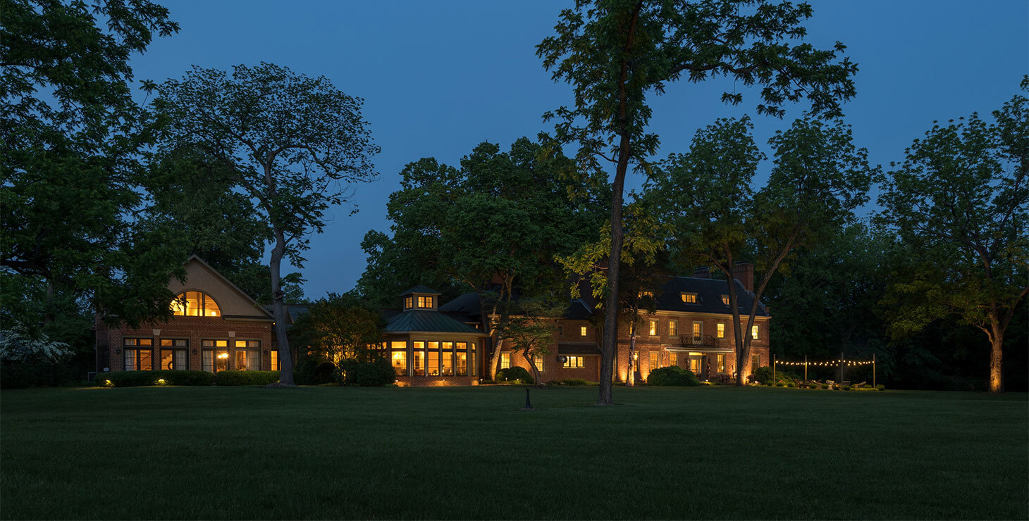 Great Oak Manor at night