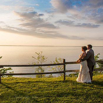 Wedding Couple Outdoors at Great Oak Manor