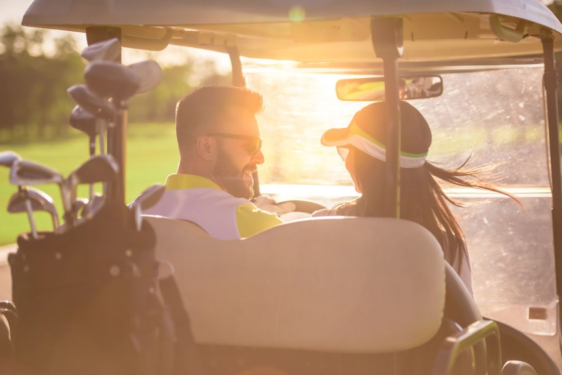 Couple Golfing in Maryland - Eastern Shore