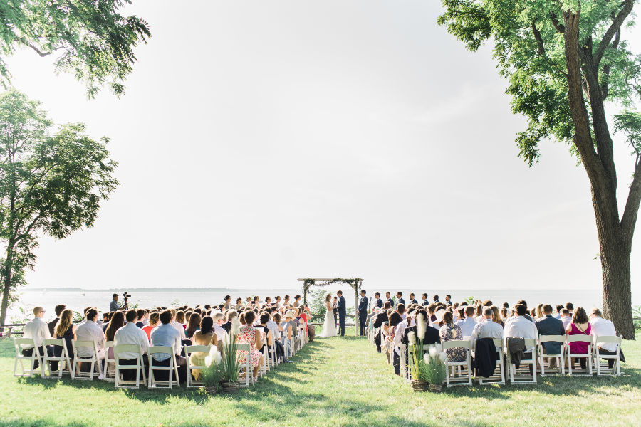 McBride Ceremony at Great Oak Manor on the lake