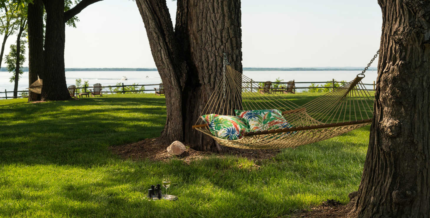 Romantic outdoor hammock at Eastern Shore Inn