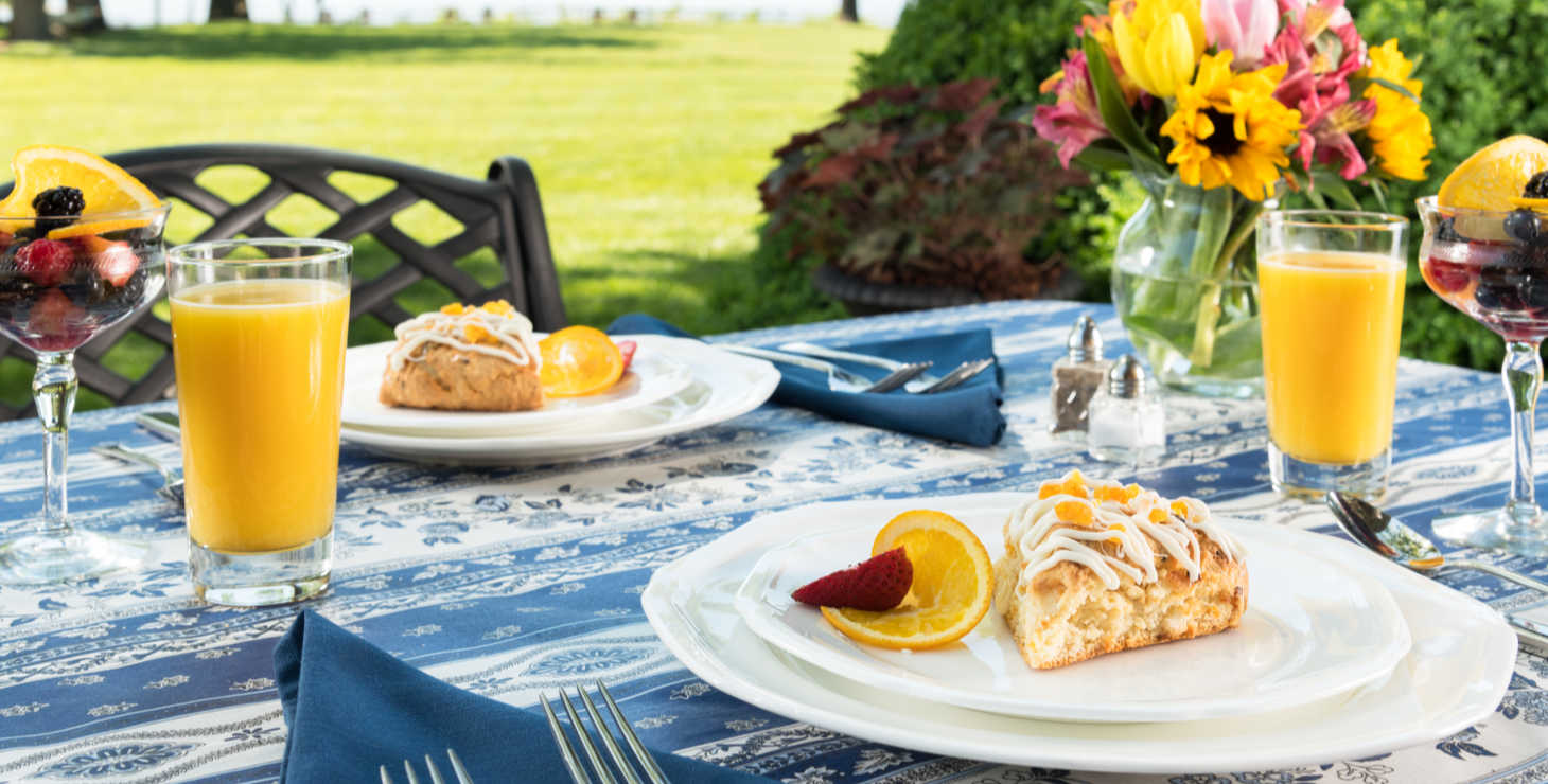 Breakfast set up at Chesapeake Bay Bed and Breakfast