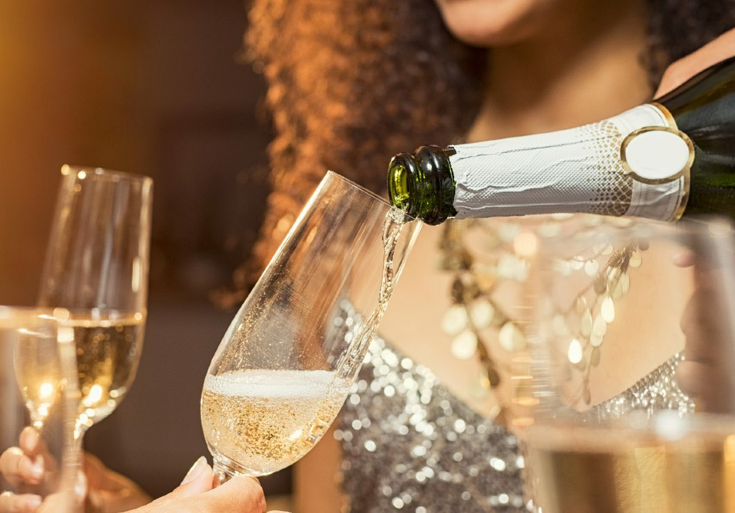 champagne at New Year's Eve party