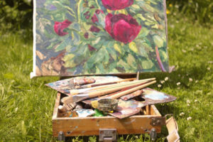 http://www.dreamstime.com/stock-photos-open-air-summer-painting-peonies-image31606343