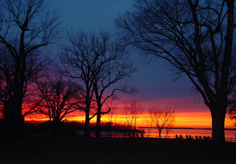 Sunset During Winter Getaway in Maryland